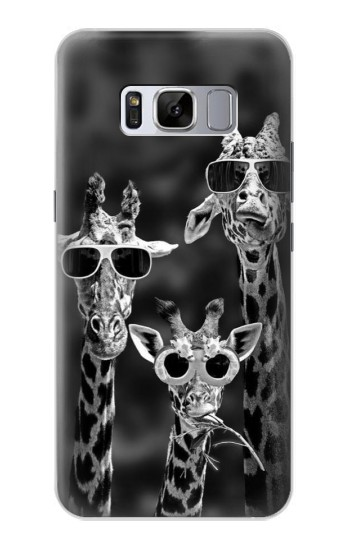 Printed Giraffes With Sunglasses Samsung Galaxy S8 Case