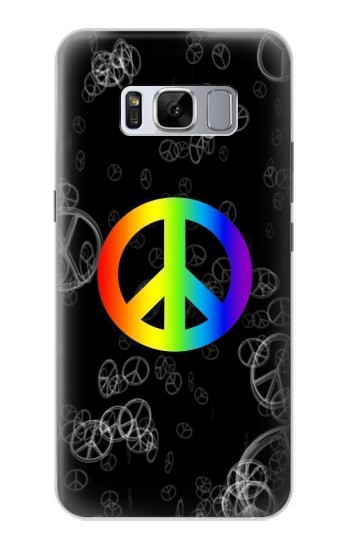 Printed Peace Sign Samsung Galaxy S8 Case