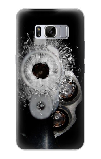 Printed Gun Bullet Hole Glass Samsung Galaxy S8 Case