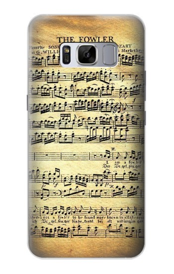Printed The Fowler Mozart Music Sheet Samsung Galaxy S8 Case