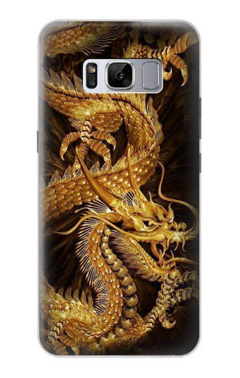 Printed Chinese Gold Dragon Printed Samsung Galaxy S8 Case