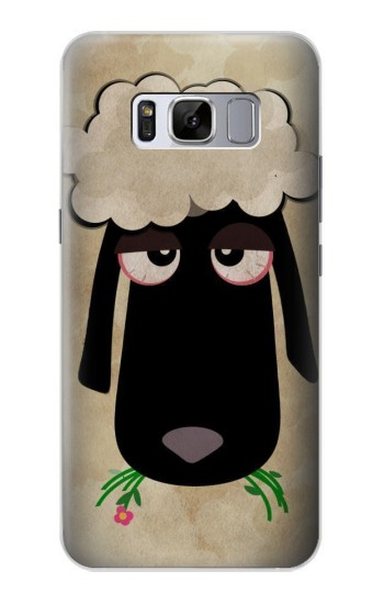 Printed Cute Cartoon Unsleep Black Sheep Samsung Galaxy S8 Case