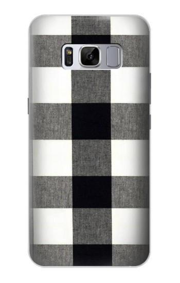 Printed Black and White Buffalo Check Pattern Samsung Galaxy S8 Case