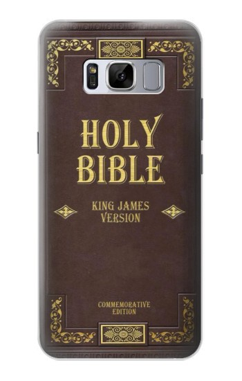 Printed Holy Bible Cover King James Version Samsung Galaxy S8 Case