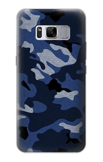 Printed Navy Blue Camouflage Samsung Galaxy S8 Case