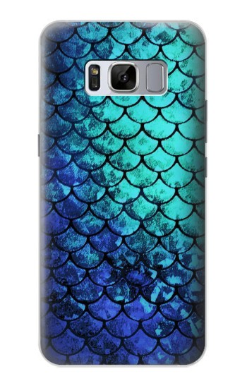 Printed Green Mermaid Fish Scale Samsung Galaxy S8 Case