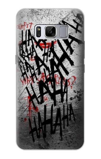 Printed Joker Hahaha Blood Splash Samsung Galaxy S8 Case
