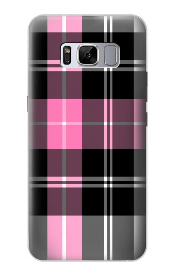 Printed Pink Plaid Pattern Samsung Galaxy S8 Case