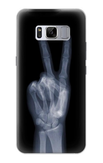 Printed X-ray Peace Finger Samsung Galaxy S8 Case