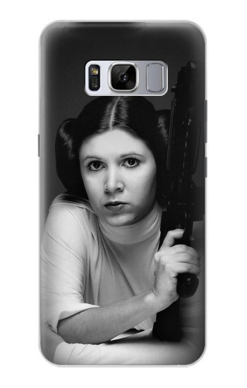 Printed Princess Leia Carrie Fisher Samsung Galaxy S8 Case