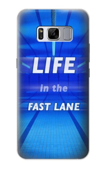 Printed Life in the Fast Lane Swimming Pool Samsung Galaxy S8 Case