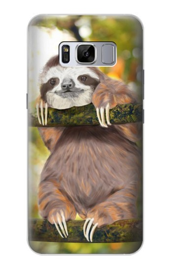 Printed Cute Baby Sloth Paint Samsung Galaxy S8 Case