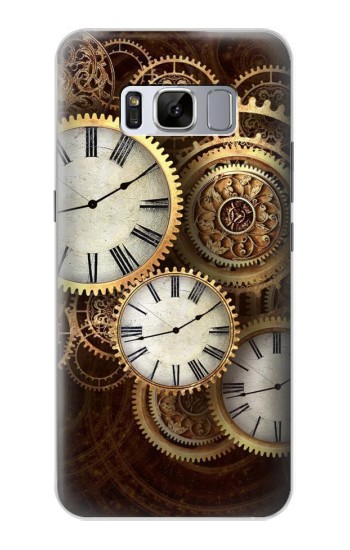 Printed Gold Clock Live Samsung Galaxy S8 Case