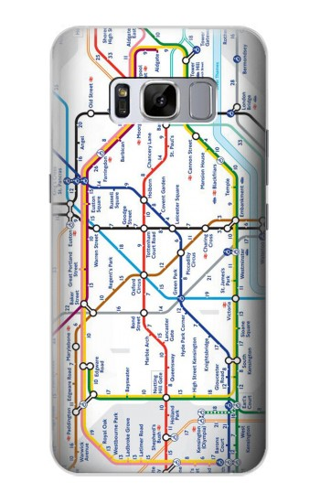 Printed London Underground Map Samsung Galaxy S8 Case