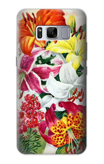 Printed Retro Art Flowers Samsung Galaxy S8 Case