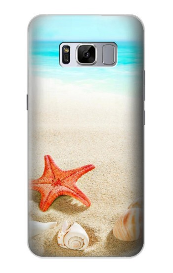Printed Sea Shells Starfish Beach Samsung Galaxy S8 Case