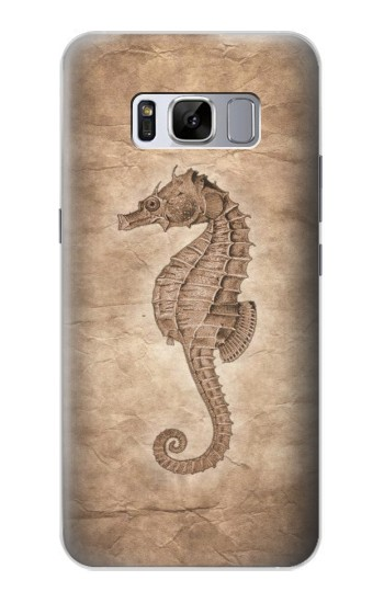 Printed Seahorse Old Paper Samsung Galaxy S8 Case