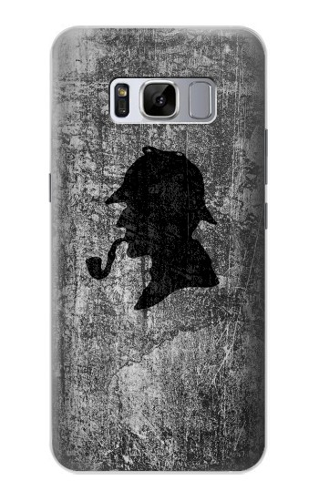 Printed Sherlock Holmes Silhouette Samsung Galaxy S8 Case