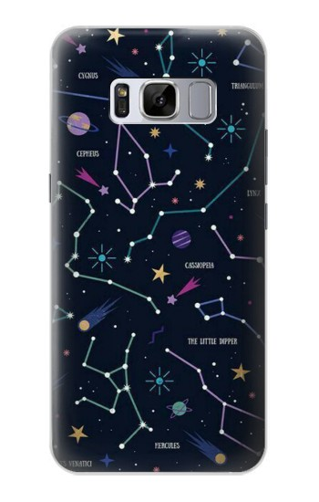 Printed Star Map Zodiac Constellations Samsung Galaxy S8 Case