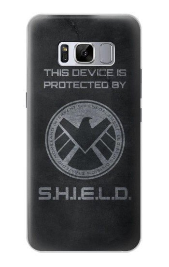 Printed This Device is Protected by Shield Samsung Galaxy S8 Case