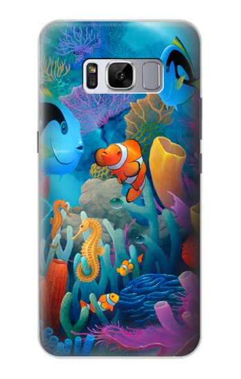 Printed Underwater World Cartoon Samsung Galaxy S8 Case