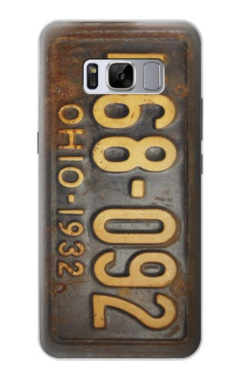 Printed Vintage Car License Plate Samsung Galaxy S8 Case