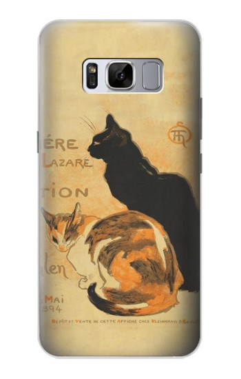Printed Vintage Cat Poster Samsung Galaxy S8 Case