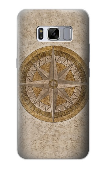 Printed Windrose Circle Stamp Samsung Galaxy S8 Case