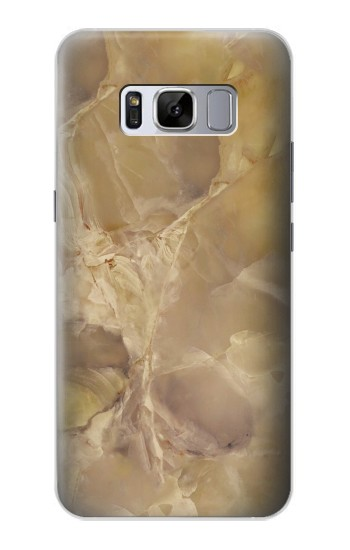 Printed Yellow Marble Stone Samsung Galaxy S8 Case