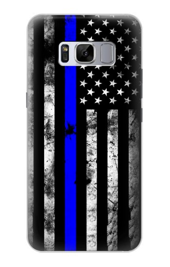 Printed Thin Blue Line USA Samsung Galaxy S8 Case