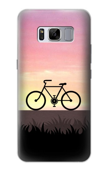 Printed Bicycle Sunset Samsung Galaxy S8 Case