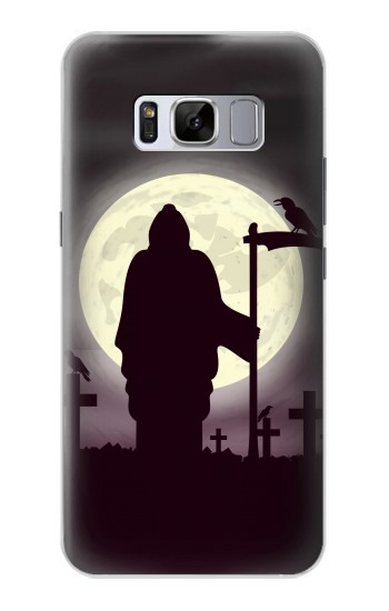 Printed Night Moon Cemetery Samsung Galaxy S8 Case
