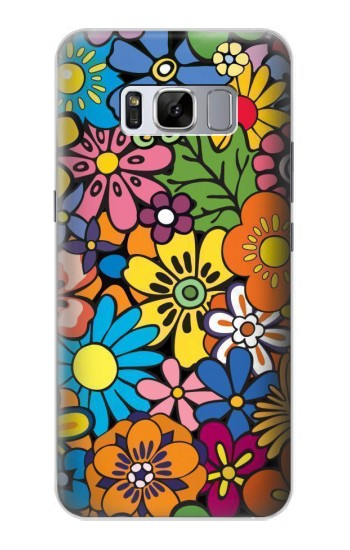 Printed Colorful Flowers Pattern Samsung Galaxy S8 Case