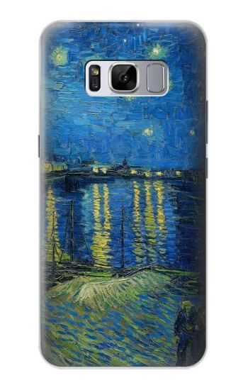 Printed Van Gogh Starry Night Over Rhone Samsung Galaxy S8 Case