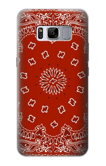 Printed Bandana Red Pattern Samsung Galaxy S8 Case