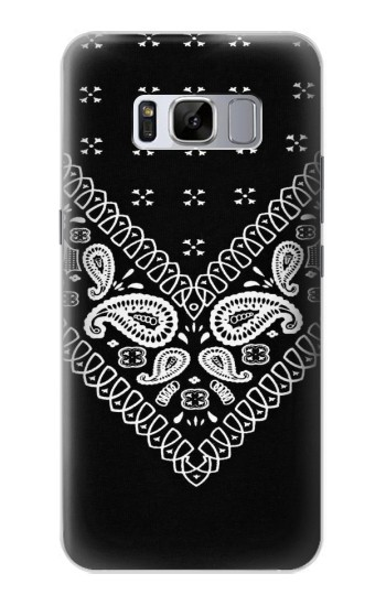 Printed Bandana Black Pattern Samsung Galaxy S8 Case