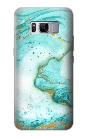Printed Green Marble Graphic Print Samsung Galaxy S8 Case