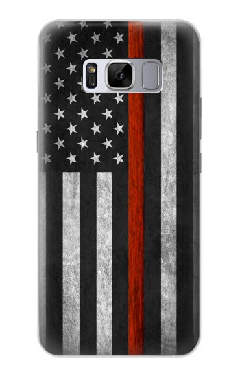 Printed Firefighter Thin Red Line Flag Samsung Galaxy S8 Case