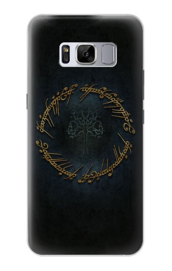 Printed Lord of The Rings Ring Elf Writing Samsung Galaxy S8 Case