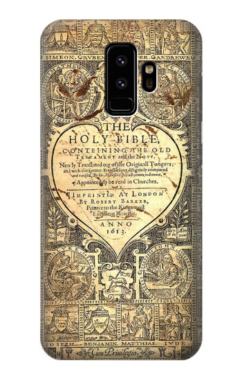 Printed Bible Page Samsung Galaxy S9 Case