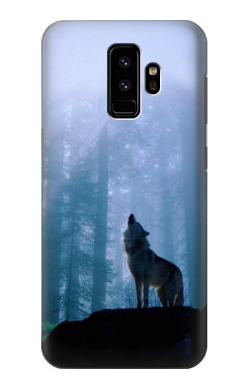 Printed Wolf Howling in Forest Samsung Galaxy S9 Case