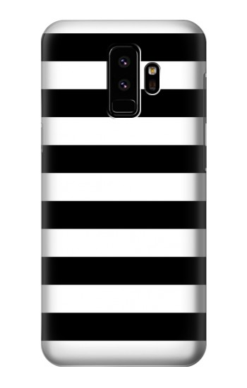 Printed Black and White Striped Samsung Galaxy S9 Case