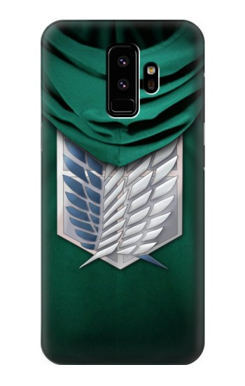 Printed Attack on Titan Scouting Legion Rivaille Green Cloak Samsung Galaxy S9 Case