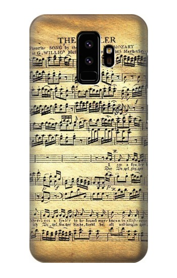 Printed The Fowler Mozart Music Sheet Samsung Galaxy S9 Case