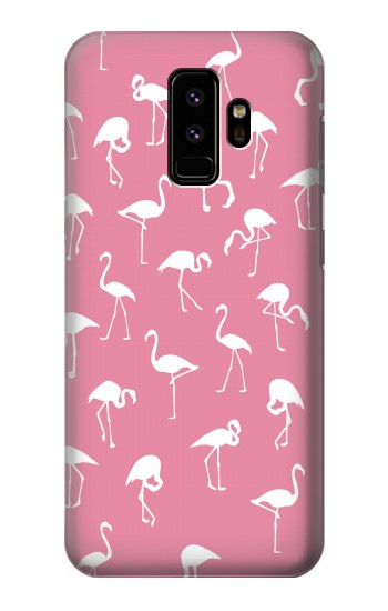 Printed Pink Flamingo Pattern Samsung Galaxy S9 Case