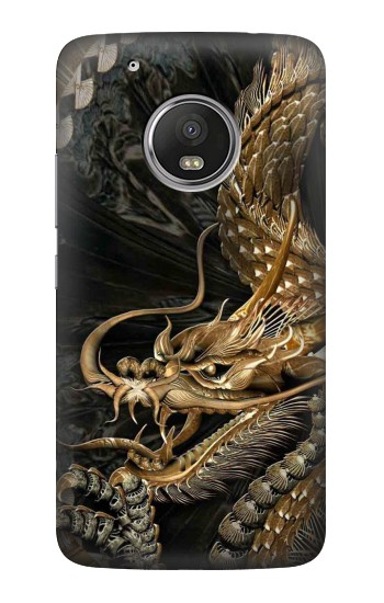 Printed Gold Dragon HTC One (E8) Case
