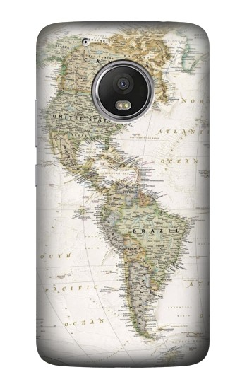 Printed World Map HTC One (E8) Case