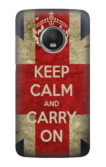 Printed Keep Calm and Carry On HTC One (E8) Case
