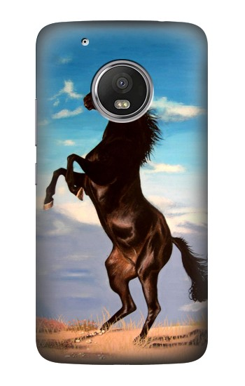 Printed Wild Black Horse HTC One (E8) Case