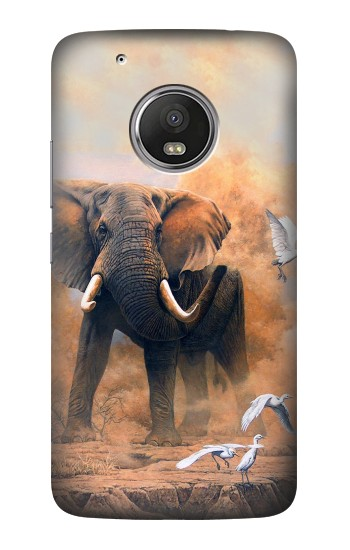 Printed Dusty Elephant Egrets HTC One (E8) Case